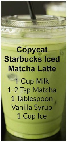 Copycat Starbucks Iced Matcha Latte Copycat Starbucks Iced Matcha This copycat recipe shows you how to make your own Starbucks Iced Matcha Latte at home with just three ingredients. The post Copycat Starbucks Iced Matcha Latte appeared first on Rezepte. Tea Recipes, Coffee Recipes, Cooking Recipes, Copycat Recipes, Drink Recipes, Smoothie Drinks, Smoothie Recipes, Yummy Drinks, Vegetarian Food