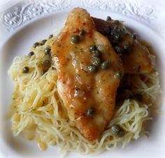 Chicken Filets with a Lemon and Caper Sauce from The English Kitchen