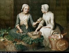 "1725 - 1765. 'Vier Jahreszeiten - Sommer' (four seasons - summer"" by Johann Christian Fiedler (1697 - 1765).  State Museum of Hesse, Darmstadt, Germany"