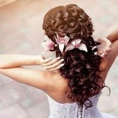 hair. maybe not the flowers.
