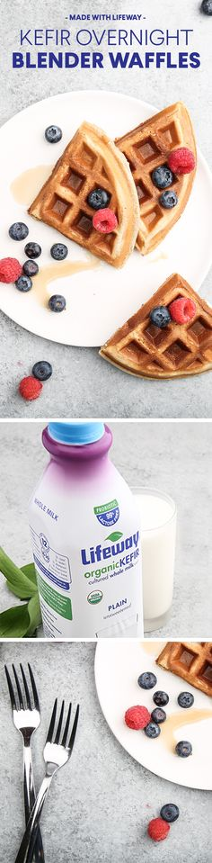 Quickly whip up these easy kefir waffles the night before for a flawless morning meal.