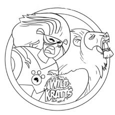 wild kratts coloring pages free printable inkleur pinterest