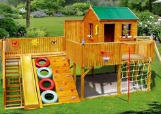 Wish we had a bigger garden! I know a few kids who would LOVE this playground! http://www.under5s.co.nz/