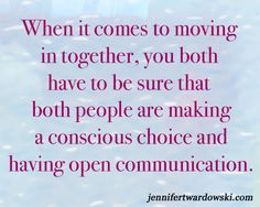 6 Question to Ask Before Moving in With Your Partner | Jennifer Twardowski #movingin #relationships #dating #nextstep #communication #communicate #consciousrelationships #consciouschoice #livingtogether #relationshipadvice #createalifeoflove