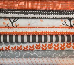 BELLA fat quarter bundle--8 pieces---2 yards total--Lotta Jansdotter for Windham Fabrics. $21.00, via Etsy.