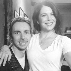 Dax Shepard and Lauren Graham.