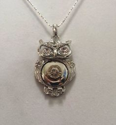 Owl bullet necklace with sparkling clear Swarovski Crystal gem where the primer was previously located. Great Christmas gift! Available at AdornmentsByValerie.etsy.com.    Check out this item in my Etsy shop https://www.etsy.com/listing/252267502/owl-bullet-necklacebullet-casing