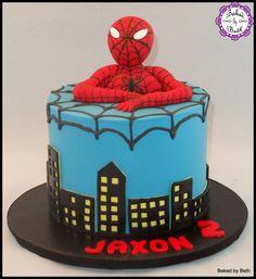 Spiderman Cake - Cake by BakedbyBeth