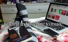 Reading and listening to music