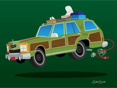 """The Family Truckster from the National Lampoon's Vacation series 