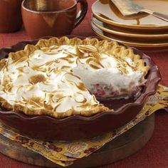 Top 10 Rhubarb Recipes from Taste of Home, including Rhubarb Meringue Pie Recipe