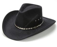 50-Kansas Black | Sombrero cowboy Stars & Stripes hecho en plástico forrado con lana negra, sombrero asequible de alta calidad a la venta en Corbeto's Boots. | Quality cowboy hat at a great price, enjoy your new black western hat now! Mens Dress Hats, Men Dress, Chapeau Cowboy, Cowboy Hats, Sombrero Cowboy, Western Belts, Western Style, Classy Men, Summer Accessories