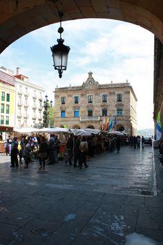 Mercado ecológico en Gijón.