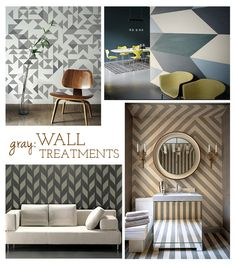 Love the geometry here. Using wall coverings is such a great way to add pattern