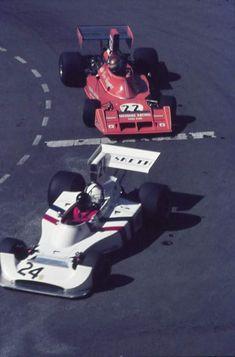 #24 James Hunt...Hesketh Racing...Hesketh 308... Motor Ford Cosworth DFV V8 3.0...#22 Vern Schuppan...Team Ensign...Ensign N174... Motor Ford Cosworth DFV V8 3.0...GP Monaco 1974