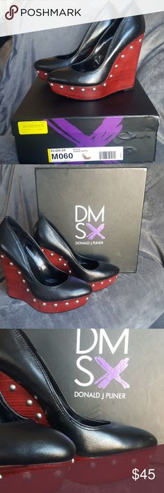 Donald J Pliner DMSX Black Sheep Napa Eliza with silver studs Donald J. Pliner Shoes Heels