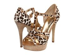 $120.00 www.jewelsbyparklane.ca  GUESS® - Leopard T-Strap Heels - FAST SHIPPING