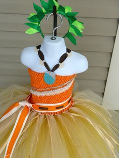 Moana Inspired Tutu Dress Moana Inspired Costume Moana by TutuFoxy