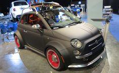Trio of Custom Fiat 500s Storm Vegas: 2012 SEMA Show. For more, click http://www.autoguide.com/auto-news/2012/10/trio-of-custom-fiat-500s-storm-vegas-2012-sema-show.html