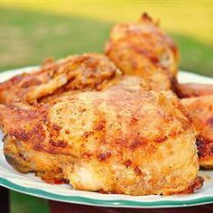 Easy Shake and Bake Chicken | You make the seasoning blend for this delicious chicken.