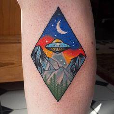 UFO Tattoo by raerobinsontattoo