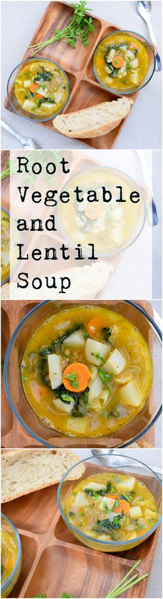 A filling and delicious vegan and gluten free soup. Amazing earthy flavors of root vegetables and lentils.