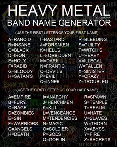 Heavy Metal Name Generator