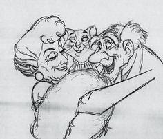 Production drawing from The Aristocats