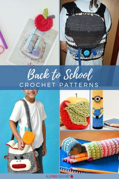 🎒✏️Just updated!📏📚 The coolest crochet school supplies and teacher gifts can be found on this page! Crochet Cactus, Crochet Cozy, All Free Crochet, Crochet Teacher Gifts, Crochet Gifts, Crochet Pencil Case, School Stuff, Back To School, Crochet Backpack Pattern