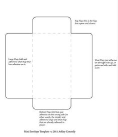 Fold Your Own Mini Envelope Template  Diy Crafting Ideas