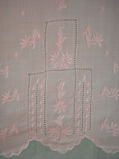 Vintage Infant Girls Hand Made Chemise Slip with Embroidery 1940s