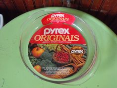 Vintage 1980's Pyrex Originals Clear Glass Round Cake Pan #221 NEW by peacenluv72 on Etsy