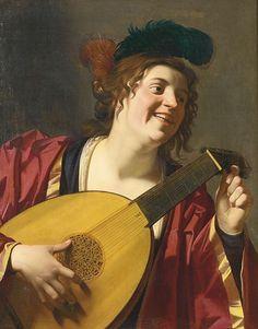 Gerrit van Honthorst, Femme jouant du luth