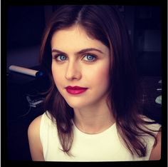 Alexa Daddario today for 'Chelsea Lately.' Makeup by Lottie.