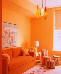 Orange Decor for Living Room . 35 Lovely orange Decor for Living Room . Living Room Color Schemes, Living Room Designs, Living Room Decor, Decor Room, Living Rooms, Orange Rooms, Living Room Orange, Orange Walls, Murs Oranges