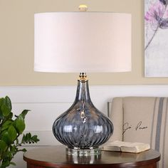 """Uttermost Sutera 26.25"""" H Table Lamp with Drum Shade"""