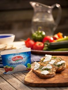 Lentil Hummus With Galbani Mozzarella Bruschetta