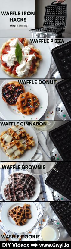 It turns out, waffle irons are not just for making yummy breakfast waffles. ;) Discover 5 supper yummy recipes you can make in a waffle iron! See video and full written instructions here:    http://gwyl.io/5-surprising-yummy-recipes-make-waffle-iron/