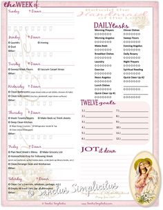 Free Catholic Weekly Planner Download
