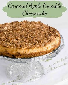 Sweet Twist of Blogging: Caramel Apple Crumble Cheesecake