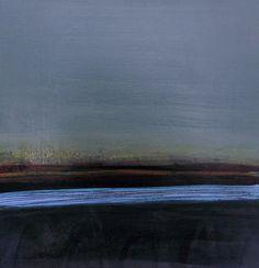 """""""Blue on Grey"""" by Henrietta Corbett - acrylic on board"""