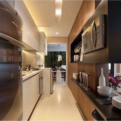 Cozinha integrada ao terraço por Fernanda Marques São Paulo | SP #decor…