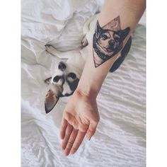 Fresh WTFDotworkTattoo Find Fresh from the Web far too much love for this little girl #dogsofinstagram #chihuahua #dogtattoo #dotwork #linework #tattoos lucymargaret90 WTFDotWorkTattoo