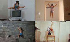 Meet the gymnastics boy wonder from Iran aged just two #DailyMail