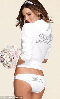 Miranda Kerr con lencería de novia