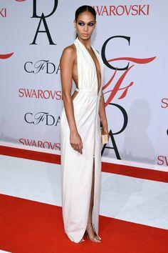 Joan Smalls in Calvin Klein at the CFDA Awards