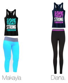 """""""Gym"""" by makayla-10 ❤ liked on Polyvore featuring moda"""