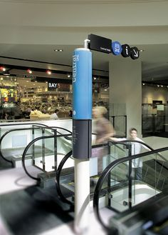 Freestanding directory and directional sign at Melbourne Central, Australia by Pidgeon