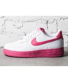 newest cf8fc ddcf9 Nike Air Force 1 Low White Vivid Pink Trainers Cheap Sale Cheap Air Force 1,