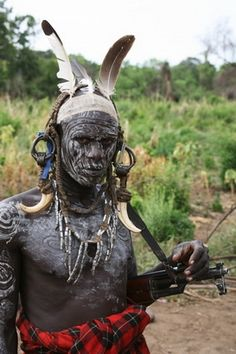 from the world photography collection of Richard Notebaart of Radboud University, Netherlands. Mursi Tribe, Tribal People, Body Adornment, Poster Layout, World Photography, Body Modifications, People Of The World, Ethiopia, African Art